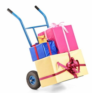 A-hand-truck-with-many-gifts-on-it-297x300